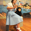 "Gloucester: Teaghan Hagood as Dorothy and Levin Rudler as Toto in the  Annisquam Village Players production of ""THe Wizard of Oz. Jim Vaiknoras/staff photo"