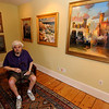 Gloucester: Artist Robert Stephenson at iart colony in Rockport, a reception for Stephenson's art will be held at the gallery July 21. Jim Vaiknoras/staff photo