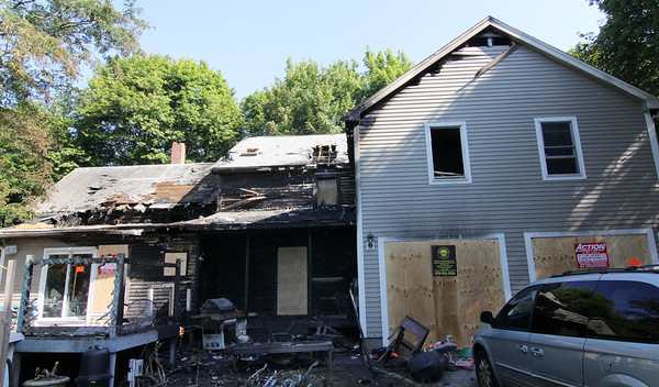 ALLEGRA BOVERMAN/Staff photo. Gloucester Daily Times. Gloucester: 2 Ashland Place on Tuesday after the Monday fire.