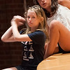 "Gloucester: Dalany Burke and Caroline Muniz rehearse ""Us and Them"" at  the O'Maley Middle School Performing Arts Dept. Drama Camp  which will be performed Friday free of charge at the school. Jim Vaiknoras/staff photo"