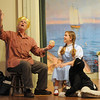 "Gloucester: Teaghan Hagood as Dorothy talks with Peter Kovner as Professor Marvel in the  Annisquam Village Players production of ""THe Wizard of Oz. Jim Vaiknoras/staff photo"