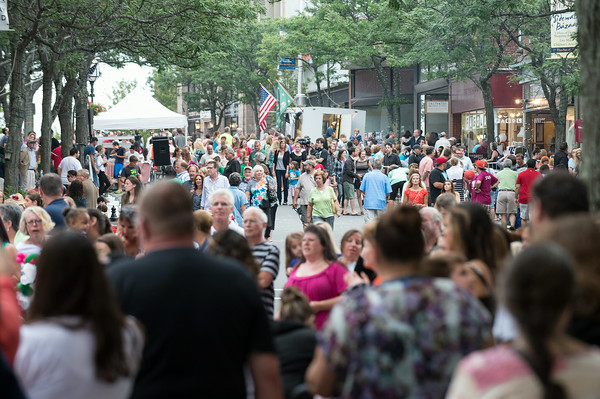DESI SMITH/Staff photo.   Main Street is packed during the Annual Main Street Block Party Saturday night.  July 19,2014