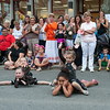 "DESI SMITH/Staff photo.    From left to right pairs, Malia Bolcome 4, Gianna Brooks 4, on back and Danny Orlando 3, and Hayden Koller 4, on back finish up their routine, ""The itsy bitsy Spider"", during the Annual Main Street Block Party Saturday night.  July 19,2014"