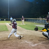 DESI SMITH/Staff photo.    Gloucester National's Jake Mortillaro connects with the ball against Manchester Essex in the sixth inning in a Little League game held at Boudreau Field Wednesday night.<br />   July 2,2014