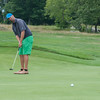 DESI SMITH/Staff photo.  Ben Cunningham holds his lead as he putts on the 11th green, in the Bass Rocks Club Championship at Bass Rocks Sunday morning.   July 26,2014