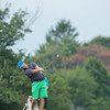 DESI SMITH/Staff photo.  Ben Cunningham holds his lead as he drives a shot down the fairway on the 10th green, in the Bass Rocks Club Championship at Bass Rocks Sunday morning.   July 26,2014