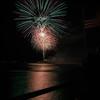 Desi Smith/Staff Photo.  Fireworks light up the sky over Gloucester Harbor Friday night. July,3,2015