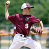 DAVID LE/Staff photo. Gloucester relief pitcher Jared Lucido fires a pitch against Masco. 7/2/16.
