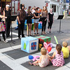Vincenzo Dimino/Photo <br /> From left, Gloucester Stage Youth Acting Workshop members Victoria Squire, Nate Oaks, Colby Taormina, Marissa Neves, Marissa Numerosi, Miranda Joyce and Meagan Gallo perform during the block party.
