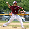 DAVID LE/Staff photo. Gloucester's Jared Lucido fires a pitch against Masco on Saturday morning. 7/2/16.