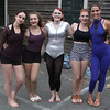 Vincenzo Dimino/Photo <br /> From left, Mariel Kronitz, Sophia Thurau-Gray, Jacqueline Judith, Charlotte Rigault and Leah Abel of Circus Up at the downtown Block Party.