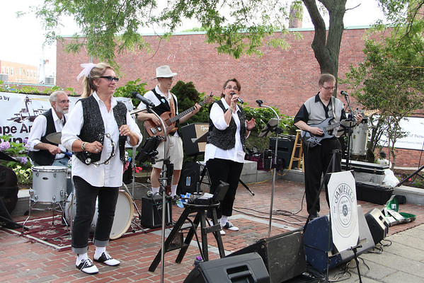 Local group The Jantelles perform during Gloucester's first block party of the season Saturday. Vincenzo Dimino/Photo