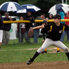 Gloucester: Adrian Gedney of the Pirates pitches against the Indians during a rainy Gloucester Little League World Series game at Boudreau Field last night. Photo by Kate Glass/Gloucester Daily Times Tuesday, June 23, 2009