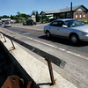 Essex: Construction on the causeway in Essex is scheduled to begin next week. One of the focuses is the wall across from Fin and Feather, which leans toward the river. Photo by Kate Glass/Gloucester Daily Times