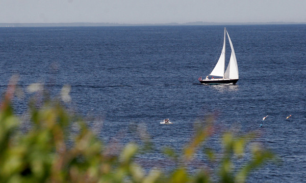 Rockport: A sailboat passes by Halibut Point. Photo by Kate Glass/Gloucester Daily Times Wednesday, June 17, 2009