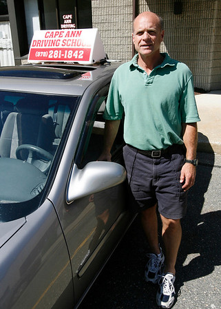 Gloucester: David Scatterday of Rockport recently opened Cape Ann Driving School in Gloucester. Photo by Kate Glass/Gloucester Daily Times Monday, June 1, 2009