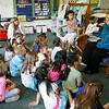 "Gloucester: Mayor Carolyn Kirk and her daughter, Baylee, read ""Which Puppy?"" by Kate Feiffer to first graders at East Gloucester Elementary School yesterday afternoon as part of the First R program. Photo by Kate Glass/Gloucester Daily Times Wednesday, June 3, 2009"