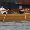 Gloucester: From left, Gloucester's Joe Sanfilippo and Mark Duval compete in the Master's Division of the International Dory Race held off the Jordrey State Fish Pier Saturday morning. Sanfilippo and Duval beat Canadian rowers Ken MacDonald and Tim Mair in the race. Photo by Mary Muckenhoupt/Gloucester Daily Times
