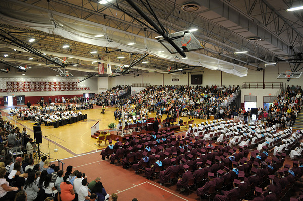 Gloucester: The GHS Graduating class of 2009 held it's Graduation Exercises inside the Benjamin Smith Feild House Sunday afternoon.Desi Smith Photo/ Gloucester Daily Times.June 14,2009