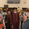 Rockport: Class President Briana Traynor and Vice President Jacob Moss lead the class of 2009 into the gymnasium during Rockport graduation Friday night. Desi Smith/Gloucester Daily Times