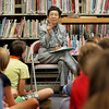 Gloucester: Kazue Campbell spoke to the fifth grade classes at West Parish Elementary School about livng just outside Hiroshima when the atomic bomb was dropped. Campbell was in seventh grade when the bomb was dropped and was witness the the mass devastation that took place. Mary Muckenhoupt/Gloucester Daily Times
