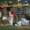 Gloucester; Gloucester American's Bart Margiotta tags Mike DeCaro of the Gloucester Nationals out at third base during the little league championship game at Boudreau Field Saturday afternoon. The Gloucester antionals won the game. Mary Muckenhoupt/Gloucester Daily Times