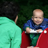 Rockport: Bryan Doucette, 10 months, smiles while playing with his mom at the playground at Millbrook Meadow Tuesday afternoon. Mary Muckenhoupt/Gloucester Daily Times