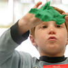 Essex: Benjamin Difluri flies his playdough battleship while playing with some friends during kindergarten screening at Essex Elementary School Thursday afternoon.  Benjamin will be attending Essex Elelmentary School in the fall. Mary Muckenhoupt/Gloucester Daily Times