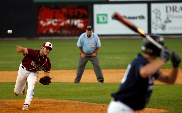 Lowell: Gloucester's Dylan Maki started and closed the Fishermen's 8-7 victory over St. John's Prep in the Division I North Championship at LeLacheur Park in Lowell on Saturday night. Photo by Kate Glass/Gloucester Daily Times Saturday, June 6, 2009