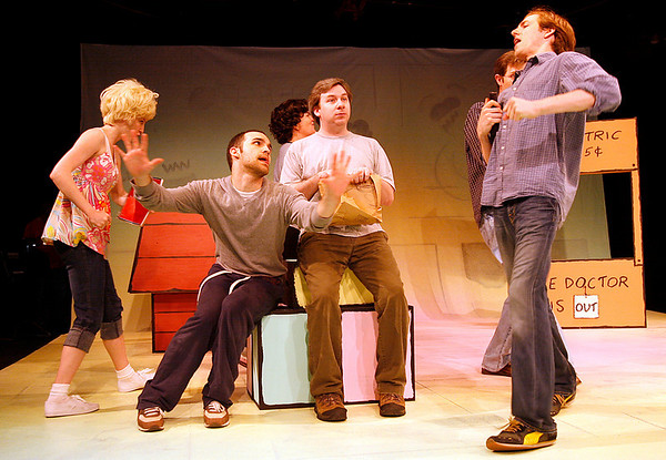"""Gloucester: David Sharrocks as Snoopy and Stephen Gagliastro as Charlie Brown star in """"You're A Good Man, Charlie Brown,"""" which will be at Gloucester Stage starting tonight through June 21st. Photo by Kate Glass/Gloucester Daily Times Tuesday, June 2, 2009"""