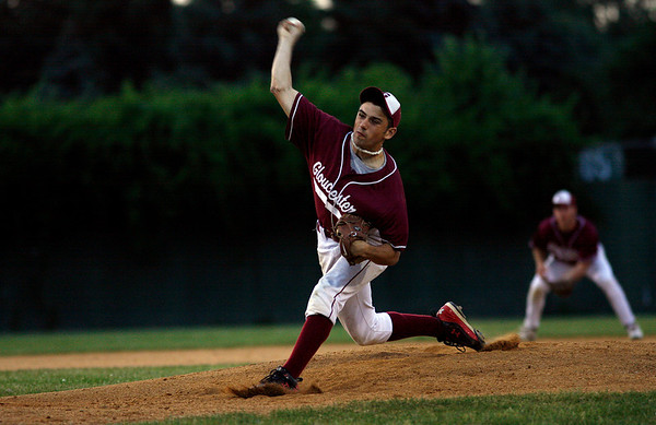 Lowell: Gloucester's Taylor Burbine only gave up two runs in 7 plus innings during their 2-1 win over Lincoln Sudbury in the Division I North Semi-Finals last night. Photo by Kate Glass/Gloucester Daily Times Thursday, June 4, 2009