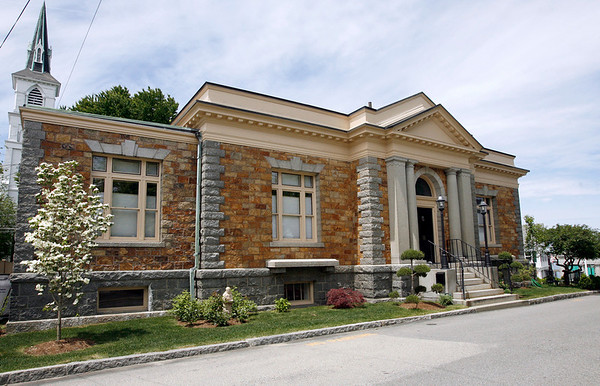Rockport: The Carnegie Library, which the town of Rockport sold two years ago for $600k is now on the market for more than $3 million. Photo by Kate Glass/Gloucester Daily Times Wednesday, June 3, 2009