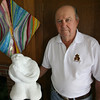 """Gloucester: Local sculptor Charles Fields recently wrote a memoir, """"Many Lands Many Hearts."""" Photo by Kate Glass/Gloucester Daily Times"""
