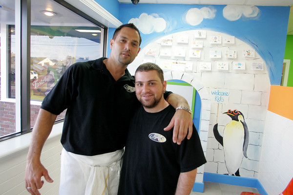 Gloucester: Owner Mike Parianos and Fellipo Zappa have opened a new ice cream place Igloo in Glocester in Railroad Avenue. Mary Muckenhoupt/Gloucester Daily Times
