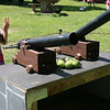 Gloucester: Zoey Ricco, 8, aims a cannon at the princess' head during the New England Pirate Faire at Stage Fort Park on Saturday. The fair also runs this Saturday and Sunday from 10-5. Photo by Kate Glass/Gloucester Daily Times