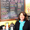Gloucester: Amy Blake recently opened Amy's Coffee and Cones, an ice cream and coffee shop, on Rocky Neck. Photo by Kate Glass/Gloucester Daily Times