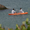 Rockport: Two kayakers paddle past Old Garden Beach on Thursday afternoon. Photo by Kate Glass/Gloucester Daily Times