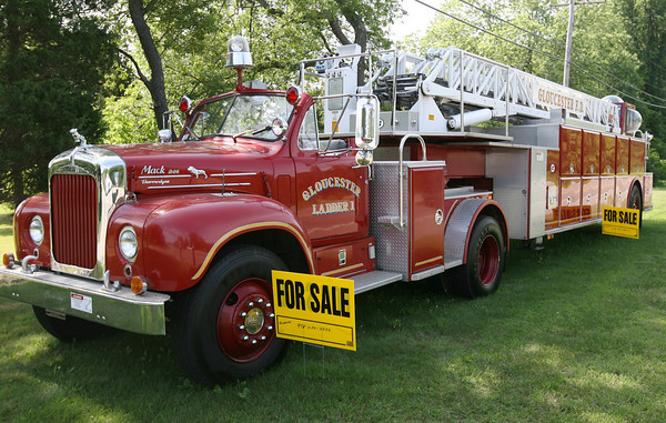 Essex: The old Gloucester Ladder 1, which is parked along John Wise Avenue in Essex, is for sale. Photo by Kate Glass/Gloucester Daily Times
