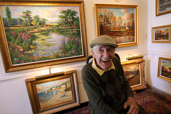 Rockport: Wayne Morrell, a local artist of more than a half a century, will be holding an open house at his gallery on sunday, June 13 from 1 p.m. to 5 p.m. Photo by Kate Glass/Gloucester Daily Times