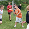Rockport: Rockport seventh grader Sean Welcome gets ready to pass the Frisbee while playing ultimate Frisbee during Rockport Middle School Field Day Thursday morning. Mary Muckenhoupt/Gloucester Daily Times