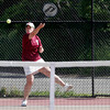 Gloucester: Gloucester's Meg Muniz plays Triton's Emily True in the Quarter Finals of the MIAA Division 2 North Tennis Tournament at Gloucester High School yesterday afternoon. Photo by Kate Glass/Gloucester Daily Times