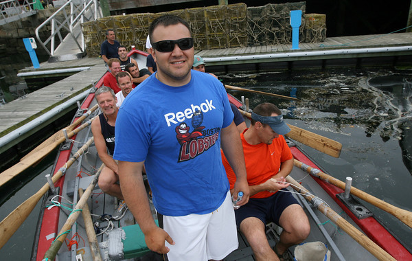 Gloucester: Mike Mitchell, who is home on leave from Afghanistan, is looking to help Kaos defend their seine boat title this year. Photo by Kate Glass/Gloucester Daily Times