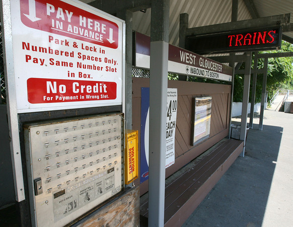 Gloucester: Beginning July 23, commuters will be able to pay to park in the MBTA commuter lots via the internet or by phone instead of using the current lock boxes. Photo by Kate Glass/Gloucester Daily Times