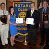 Rockport: The Rotary Club presented four awards during a ceremony at the Emerson Inn on Tuesday night. The recipients are: Charles Clark - Citizen of the Year, Nikki Klink - Paul Harris Fellow, S. Bruce Coates - Paul Harris Fellow, and Tom McCarthy - Employee of the Year. Photo by Gail McCarthy/Gloucester Daily Times