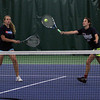 Manchester Essex's Rachel Daley, left, and Eliza Rohner practice playing at the net in preparation for their meet against Lenox in the Division 3 State Finals, which will be held at Algonquin Regional High School today at 3:30.