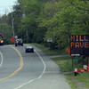 Essex: Signs along Route 133 warn travelers of upcoming construction delays as part of the ongoing work along the Causeway in Essex. On June 16 and 17, the road between Dunkin Donuts and Water Street will be torn up for repaving. Photo by Kate Glass/Gloucester Daily Times