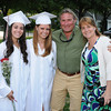 Rockport, Ready to graduate from left, Julia Sanfailippo, Camilla States,Steve Ruberti and Barbra States pose for pictures before heading in for the Graduation Ceremony last night at RHS. Desi Smith/Gloucester Daily Times.
