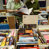 Christy Park and Rosie Sagall sort through books for the Sawyer Free Library's annual book sale, which runs Friday through Sunday in the Friend Room. Photo by Kate Glass/Gloucester Daily Times