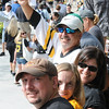 Boston: Long time Bruins fans from Gloucester Brian Lopiccolo his wife Cathrine and Rose and Bob Lopiccolo celebrate at the Bruins Victory parade held Saturday in Boston. Desi Smith/Gloucester Daily Times. June 18,2011.