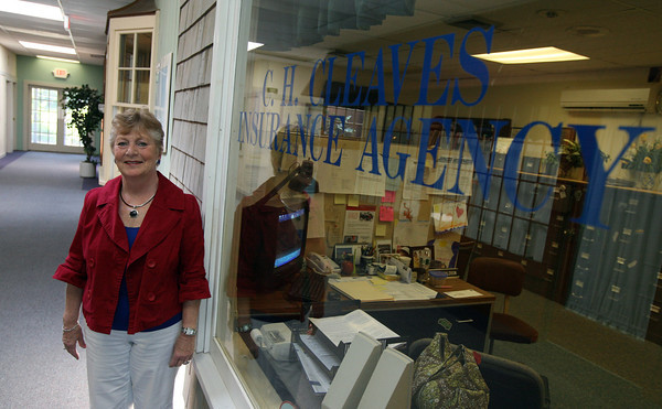 Ingrid Brown, owner of C.H. Cleaves Insurance Company, was selected Rockport's Small Business Person of the Year by the Cape Ann Chamebr of Commerce. Photo by Kate Glass/Gloucester Daily Times
